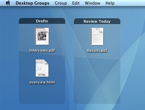 Desktop Groups screenshot